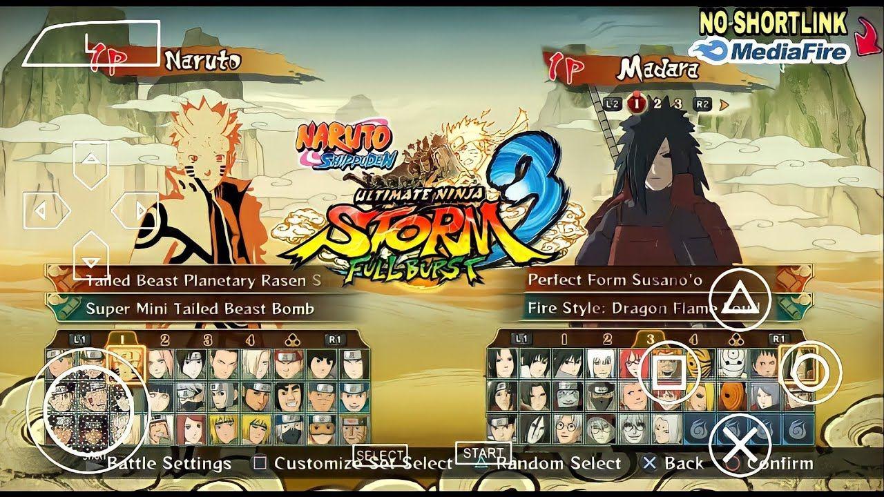 646mb Download Naruto Shipudden Ultimate Ninja Storm 3 Mod Naruto Ninja Impact Ppsspp Android Youtube In 2021 Naruto Storm Ninja