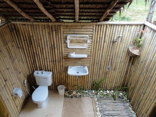 Our outdoor bathroom, Coco Lodge, Ko Muk | Peter and Ashs travels | Off