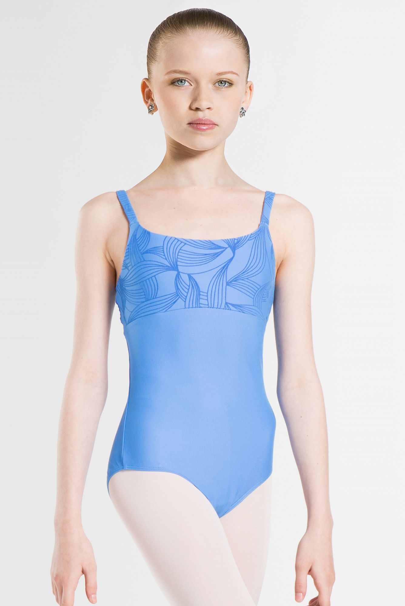 34d8f89c4aaa PASSION - Camisole style leotard with flocked microfiber detail on ...