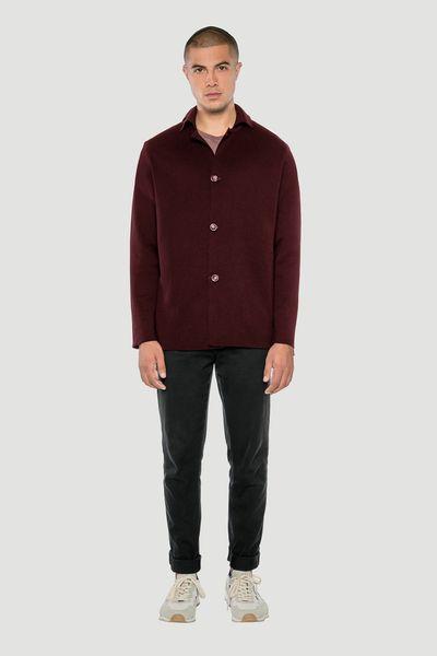 Photo of Rotholz – 'Basic' Merino Knit Jacket Burgundy | Avocadostore