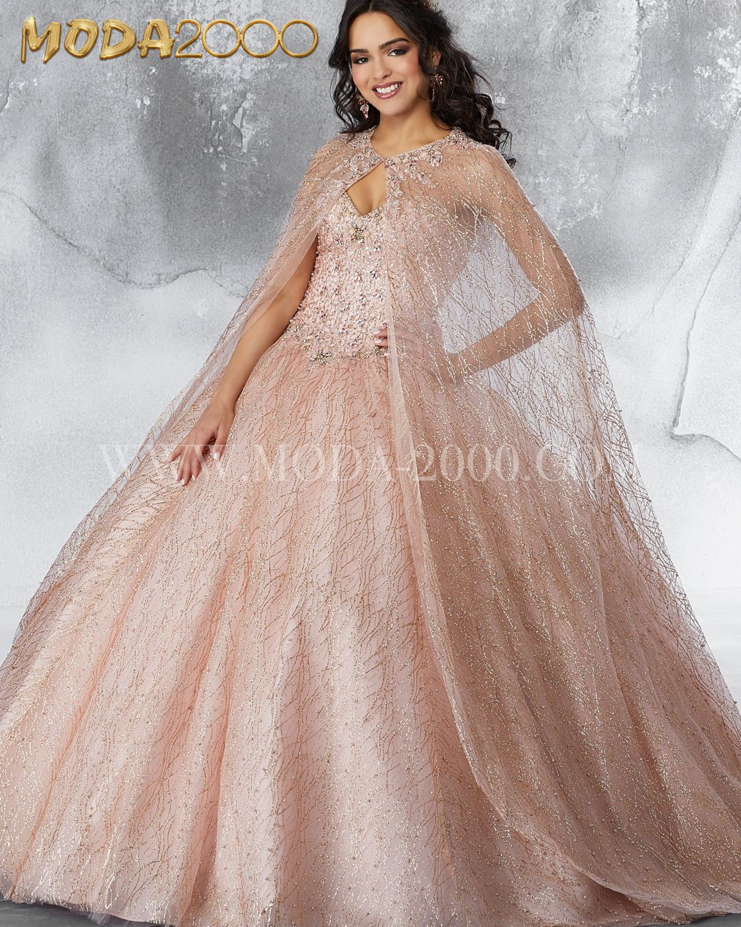 Princess Vibes rose gold Quinceañera dress / Sweet 16. Rose