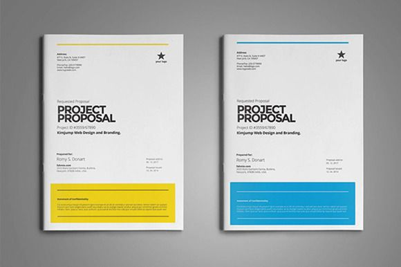 Project Proposal Template By Fahmie On Creativemarket  Proposal