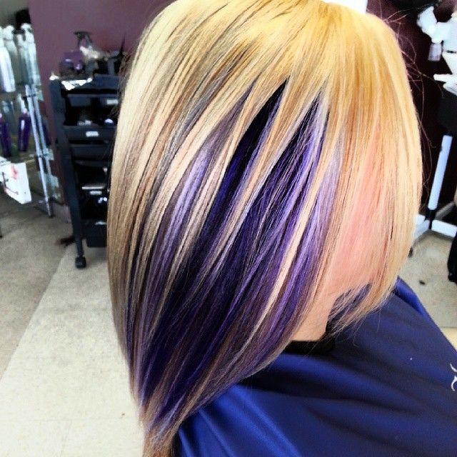 Ooooh Pretty Purple Peek A Boo Hilights Peekaboo Hair Blonde