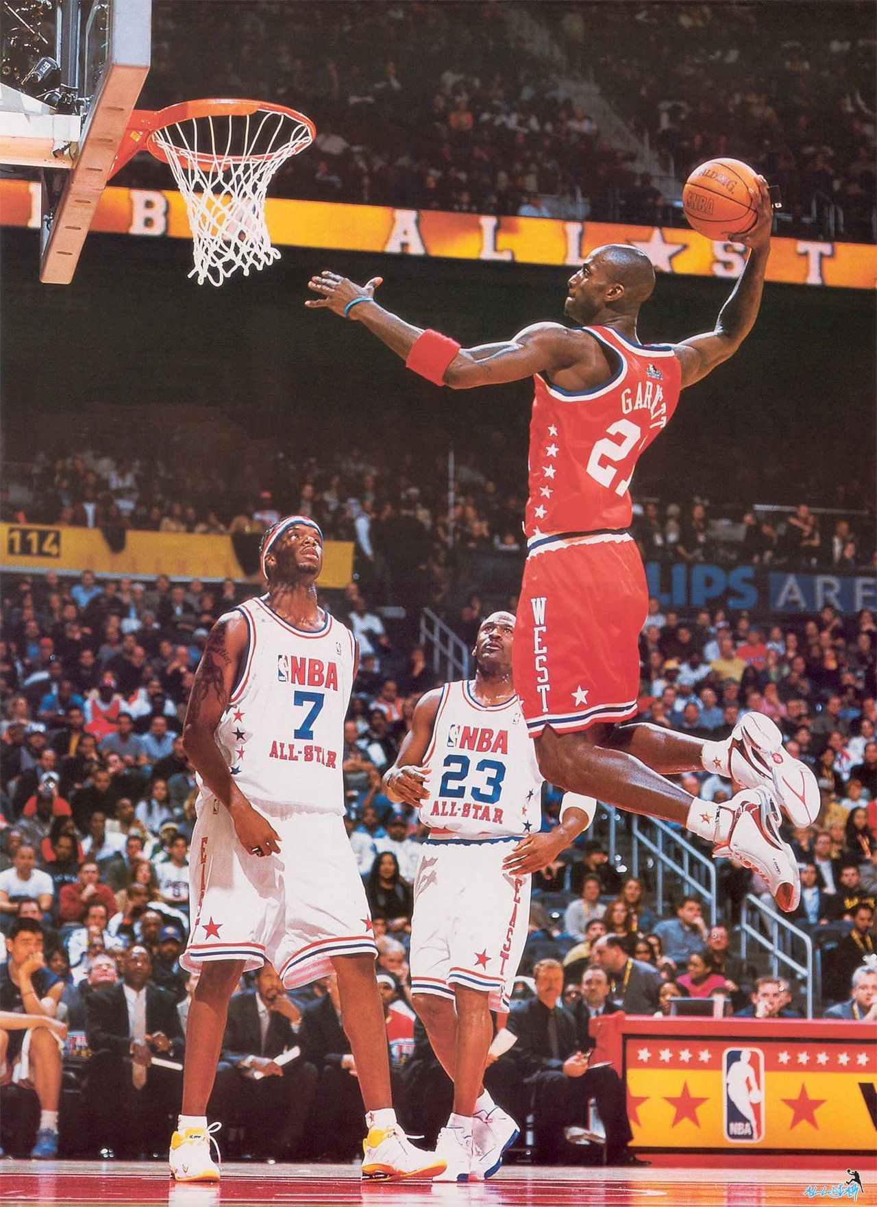 a1e009f001d Kevin Garnett Jermaine O Neal Michael Jordan NBA All-Star Game