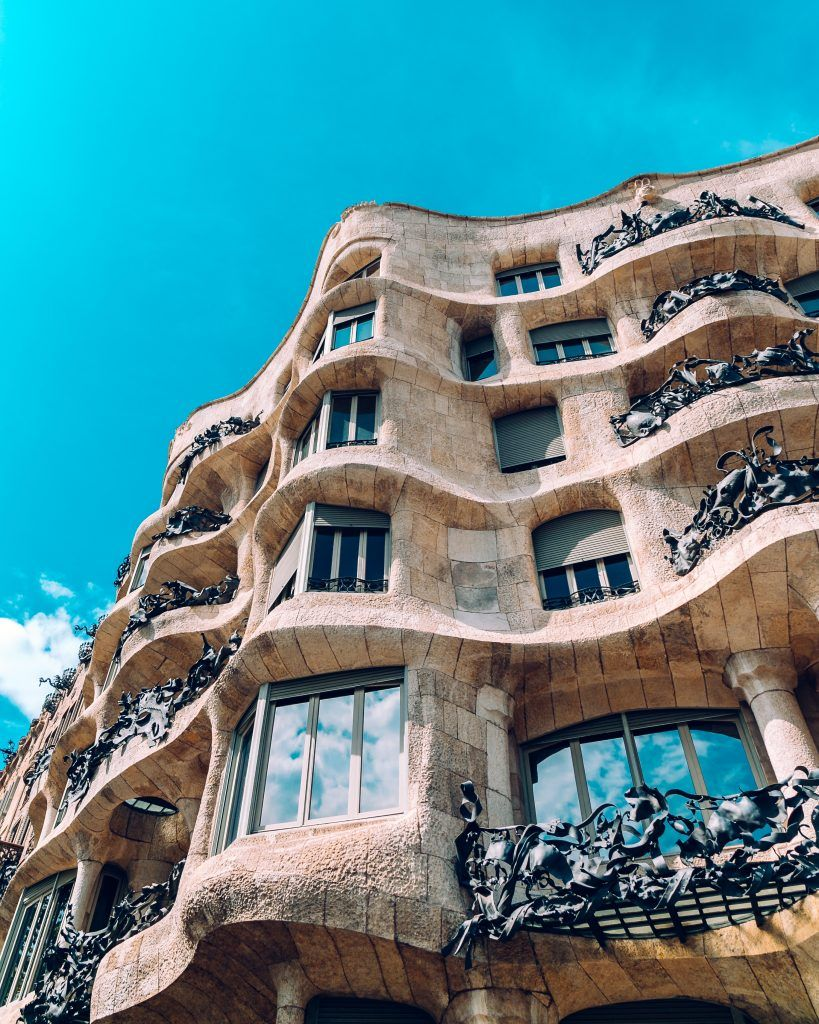 Casa Milà: Barcelona I want to visit this place because the interesting architecture.