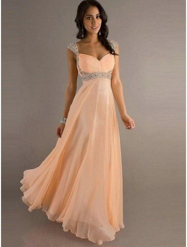 Online Shop Hot Sell New Straps Chiffon Red Peach Color Long Floor Length  Wedding Party Bridesmaid Dress Bridal Gown With Beadings In Stock