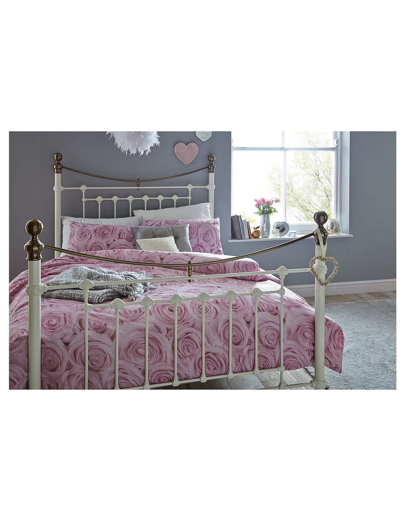 Romeo King Size Bed White Bed Frames Asda Direct
