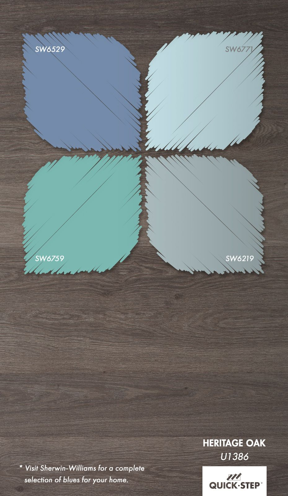 The latest color trend gray floors with blue walls get - What colour goes with lilac ...