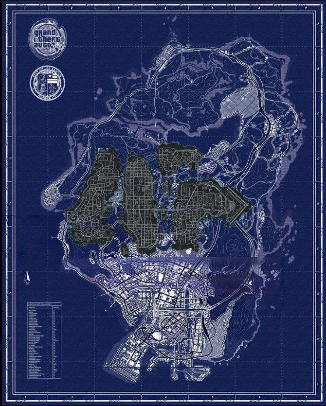 Secret Places Gta 5 Ps4: GTA V Map Compared To GTA IV