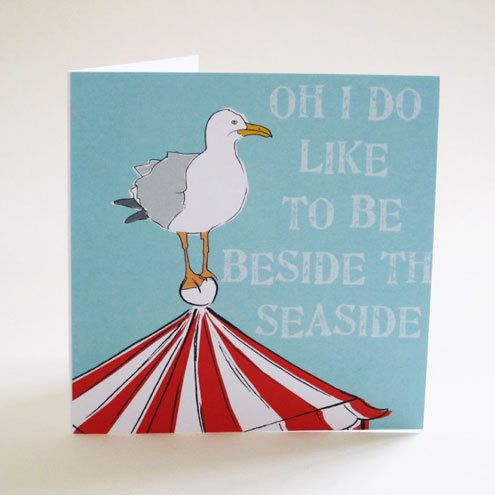 Beside the Seaside greeting card