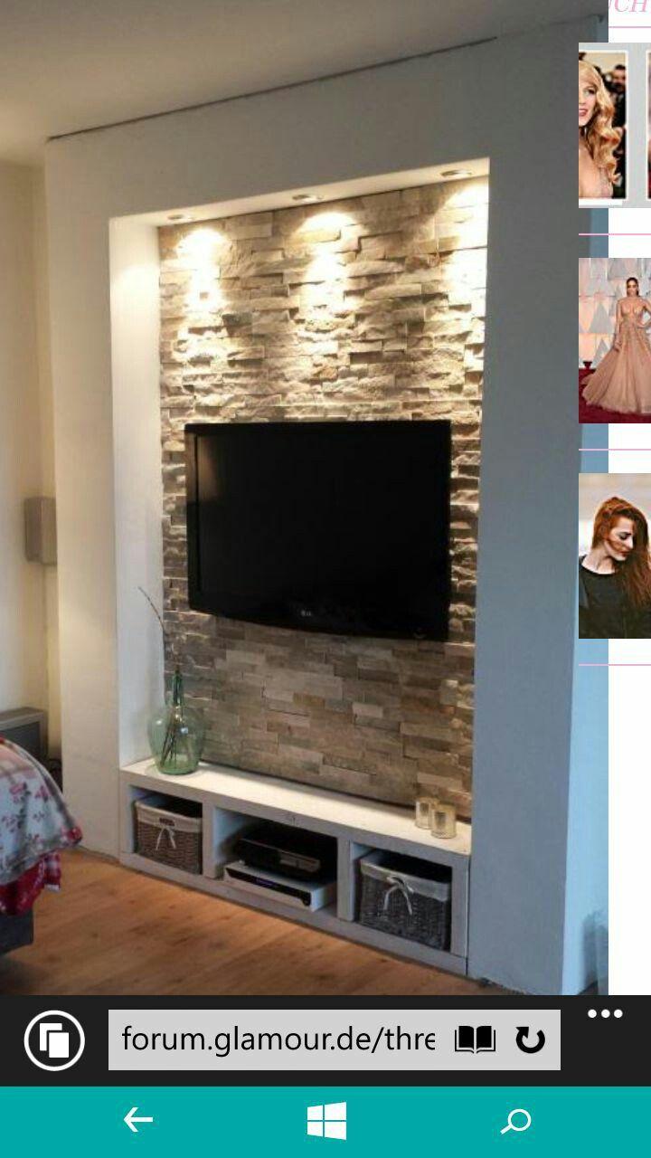 kuhle dekoration tv natursteinwand, pin by clei marcos on tendências do 3d | pinterest | living room, Innenarchitektur