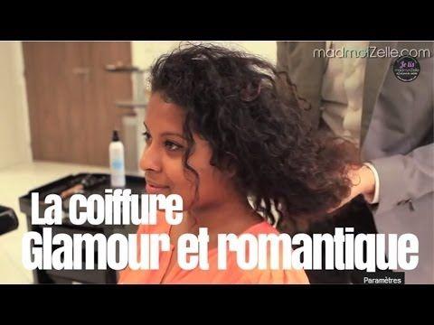 Cheveux bouclés : coiffure glamour et romantique ! - YouTube