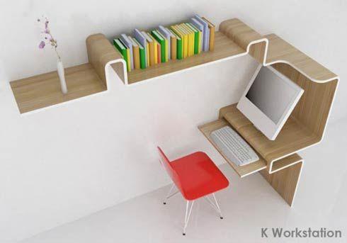 Scrivania e libreria per un piccolo soggiorno ideare casa