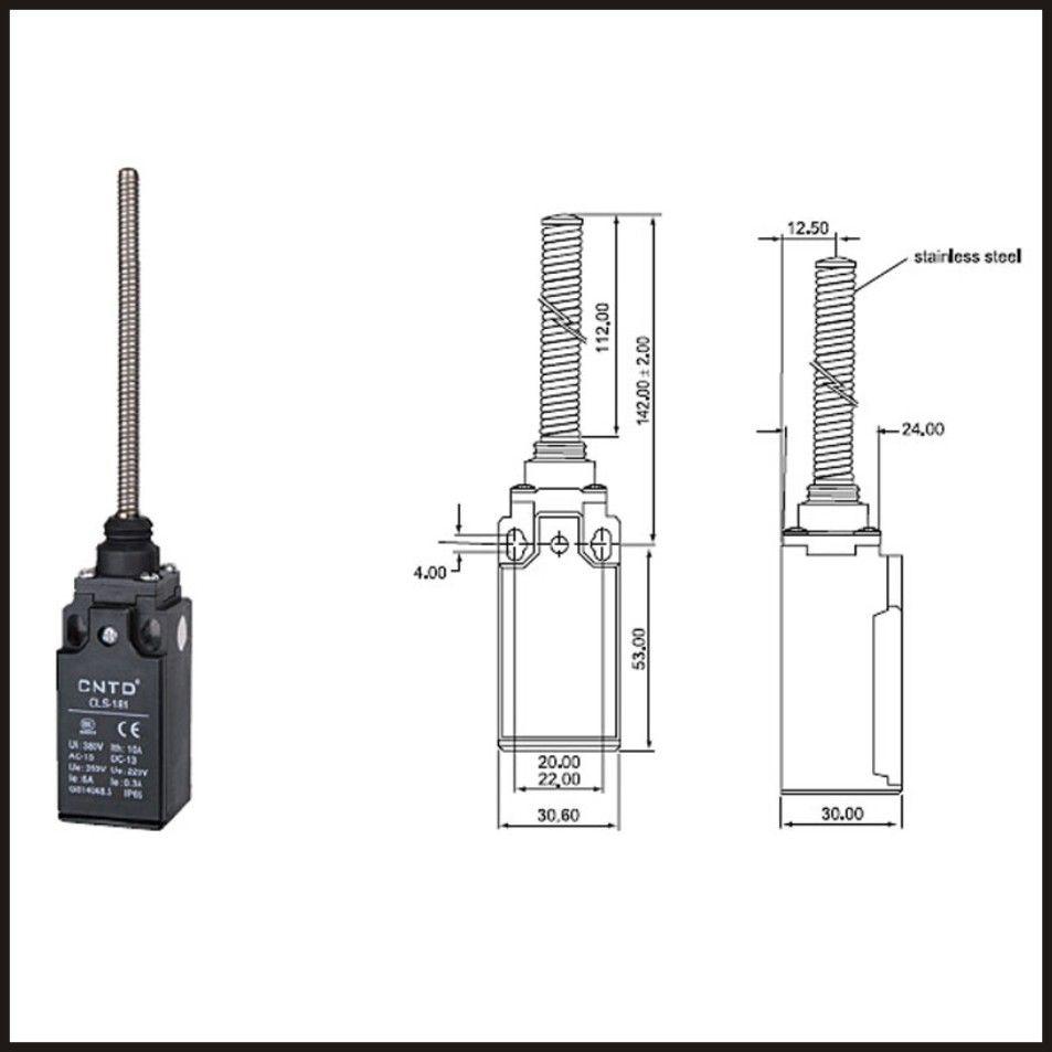 Switch travel limit switch 24A Electrical Safety Key