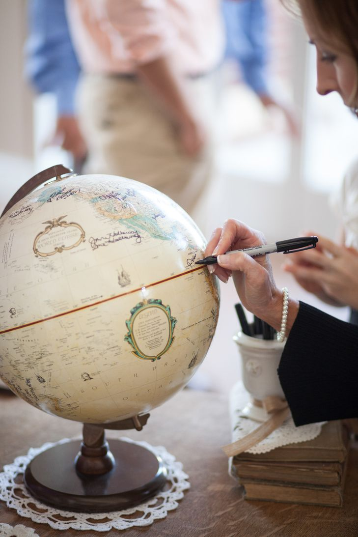 Unique Globe Guest Book | Craig Hodge Photography | http://knot.ly ...