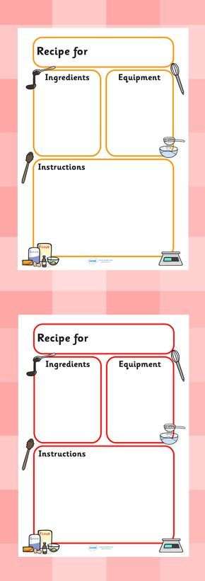 Twinkl resources recipe templates classroom printables for pre recipe template forumfinder Gallery