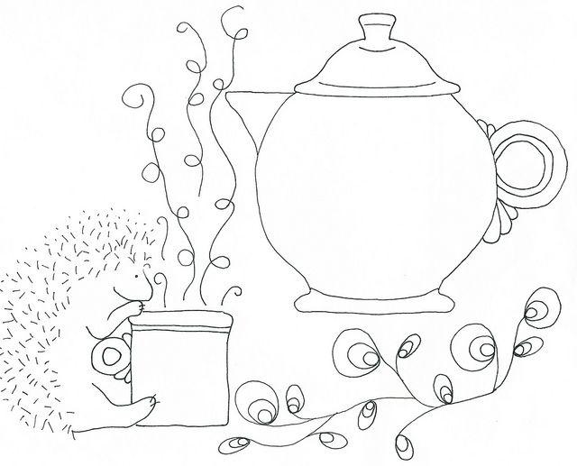 Fiesta Teapot and Hedgehog by DanaK~WaterPenny, via Flickr