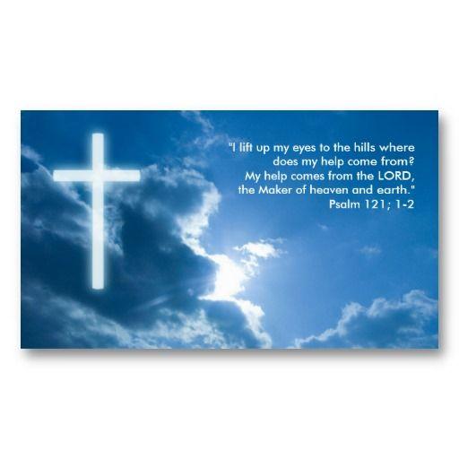 Psalm 121 1 2 Blue Christian Business Card Zazzle Com Christian Business Psalms Psalm 121