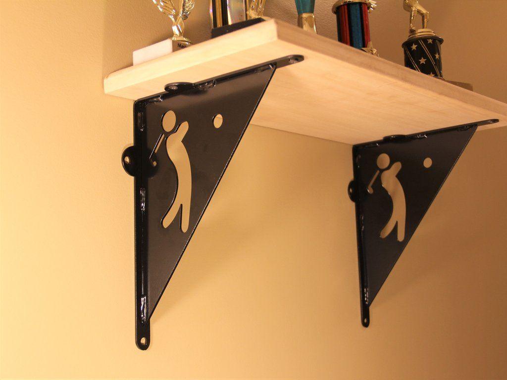 Shelf Bracket, Golf design, Decorative Angle Bracket | Shelves, Golf ...