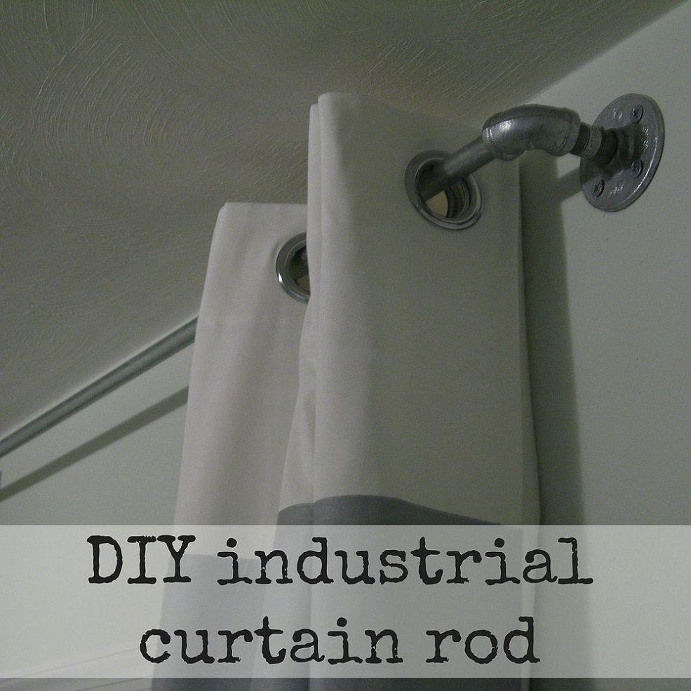 DIY Industrial Curtain Rods