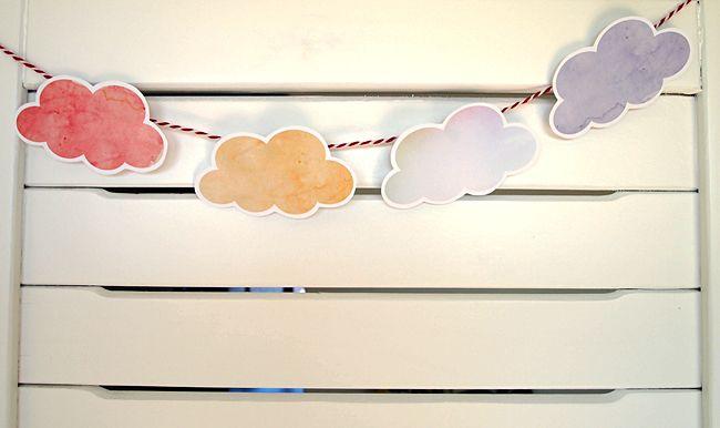 Tarjetas para imprimir Nube Acuarela by Design es Yay
