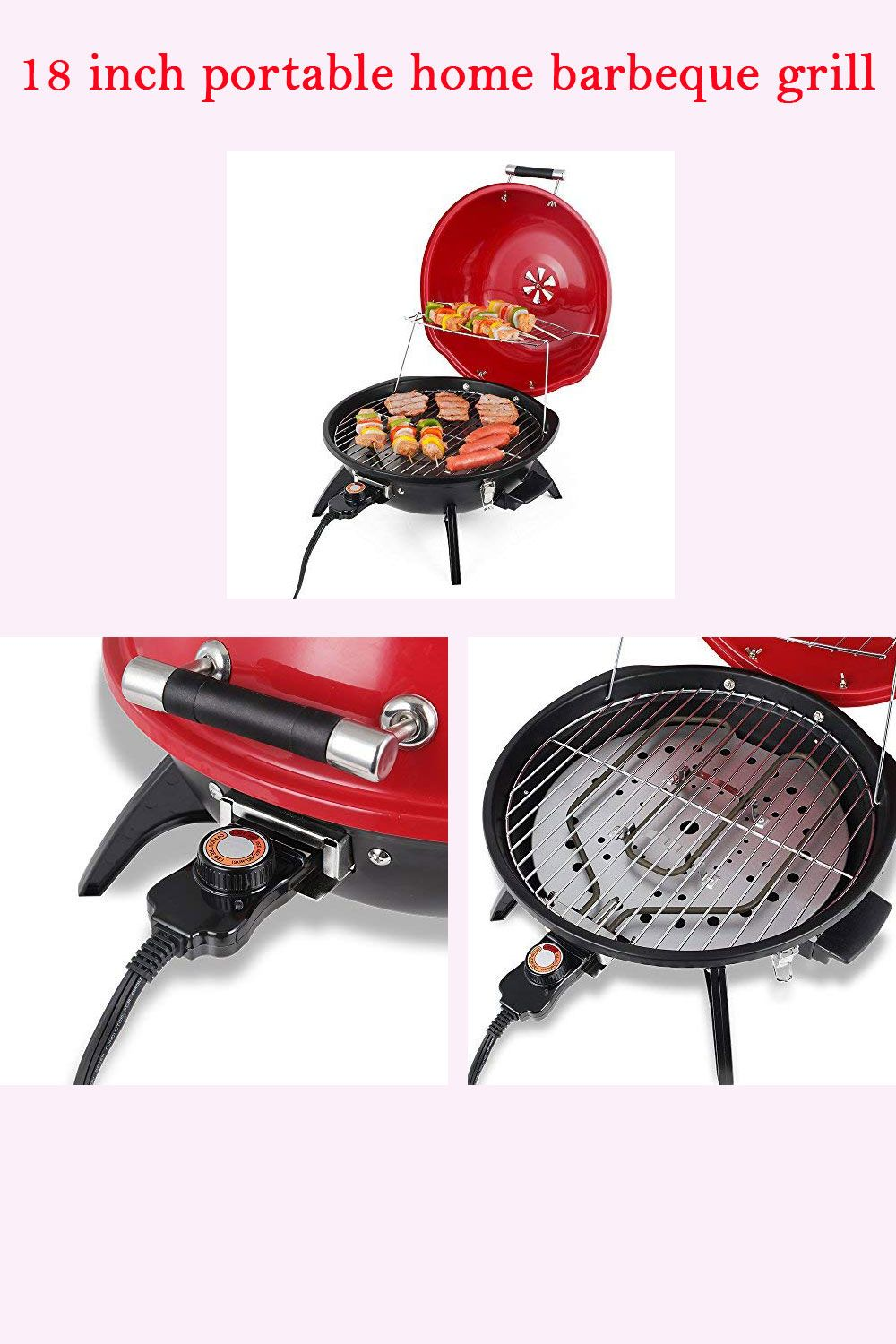Techwood IndoorOutdoor Electric BBQ Grill   Electric bbq