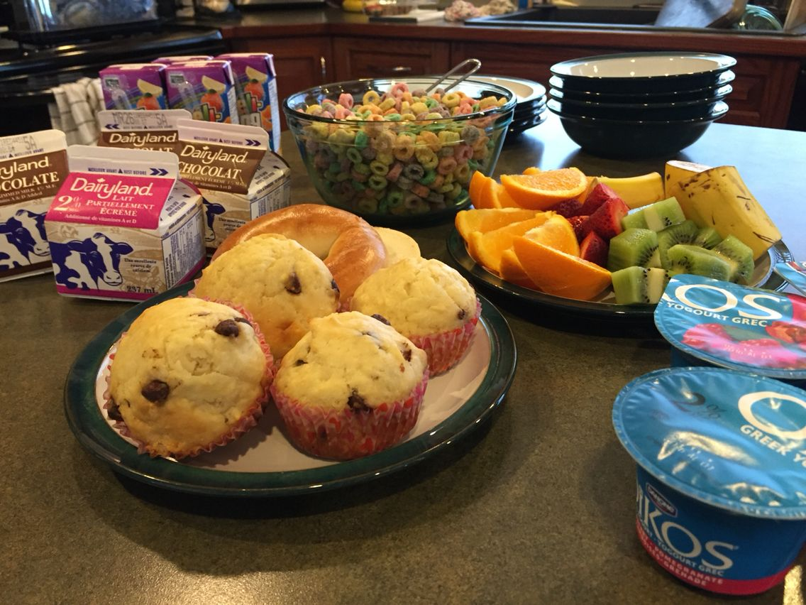 Continental Breakfast Perfect For A Sleepover Party Birthday