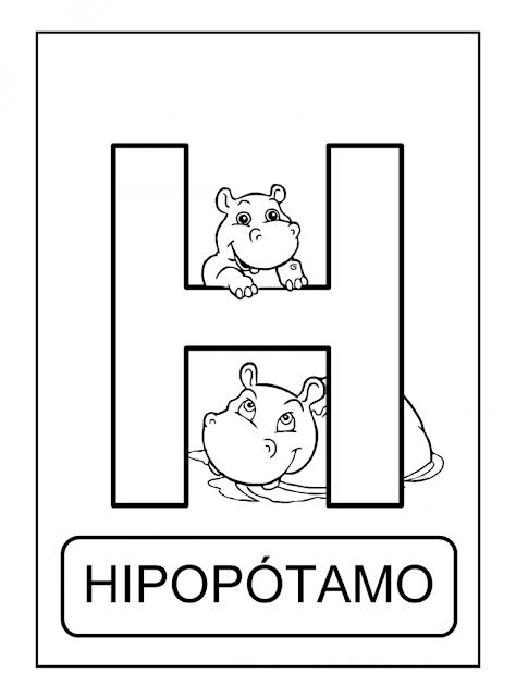 Alfabeto De Animais Para Colorir Pintar Imprimir Projeto