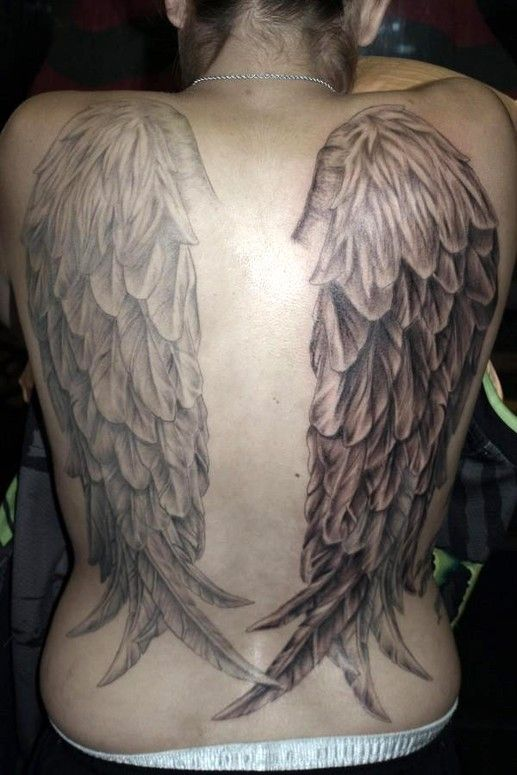 angel wings tattoos on the back | Full Back Angel Wings Tattoo By ...