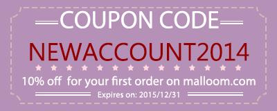Coupon code: NEWACCOUNT2014