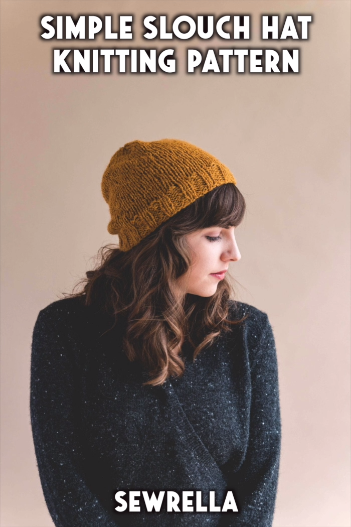 Photo of Knit Simple Slouch Hat – free pattern