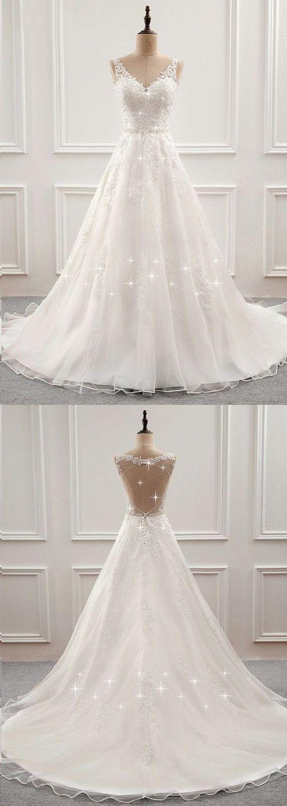 Brautkleider Ballkleider, Brautkleider Spitze, Brautkleider mit Trägern, Hochzeit … – Braut kleideralinie