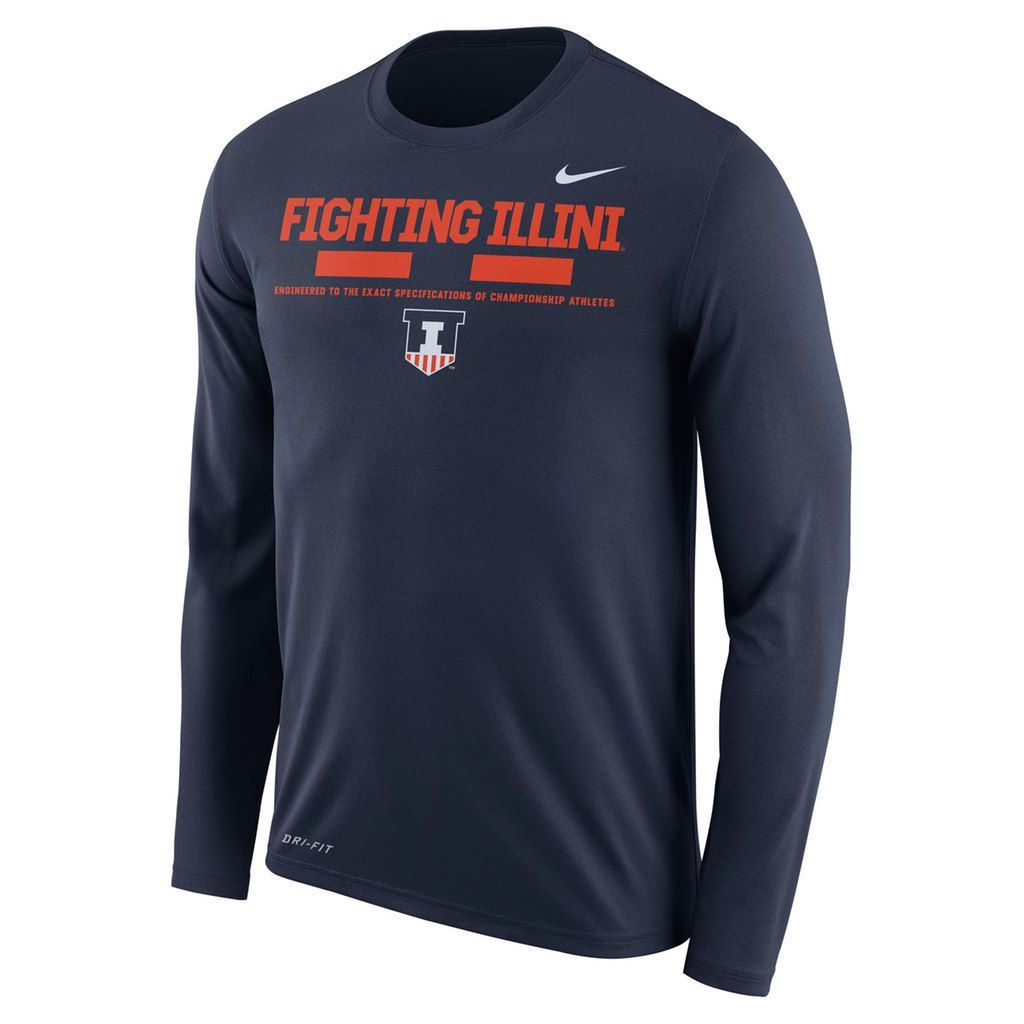 Men S Nike Illinois Fighting Illini Dri Fit Legend Staff Long Sleeve Tee Club Sweatshirts Crew Sweatshirts Sweatshirts [ 1024 x 1024 Pixel ]