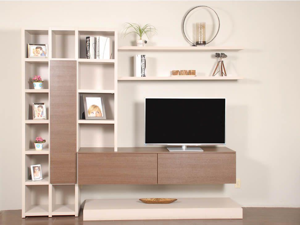 Mueble de tv empotrado vitalyty vl nr 1 sala de tv for Muebles izquierdo