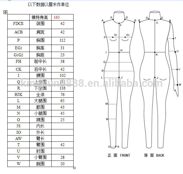 Full-body Tailors Dummy Dress Form For Tailoring Sewing Mannequin ...
