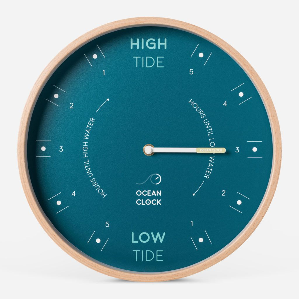 The Tide Timer Clock High Low Seascape Design