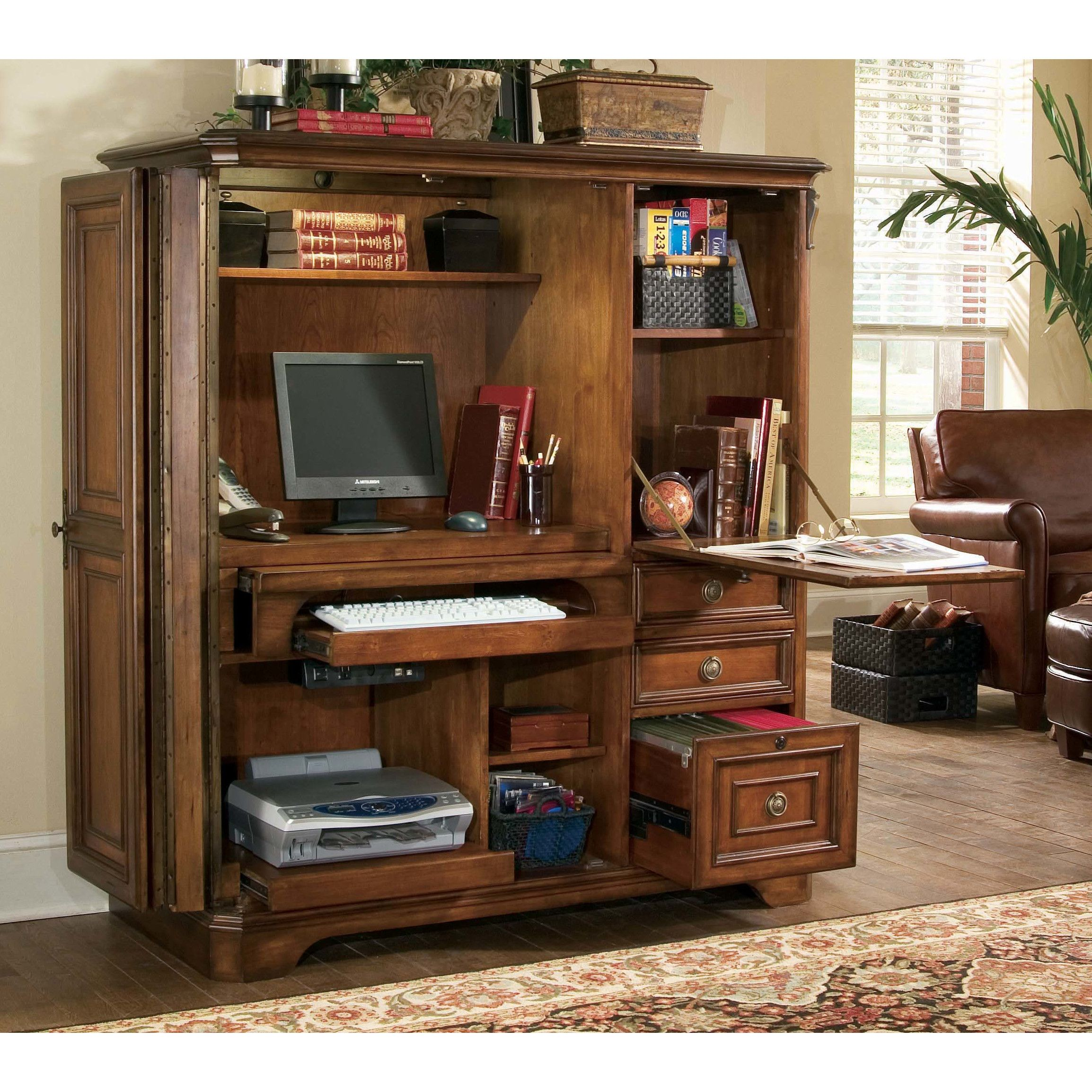 hooker furniture brookhaven armoire desk reviews wayfair