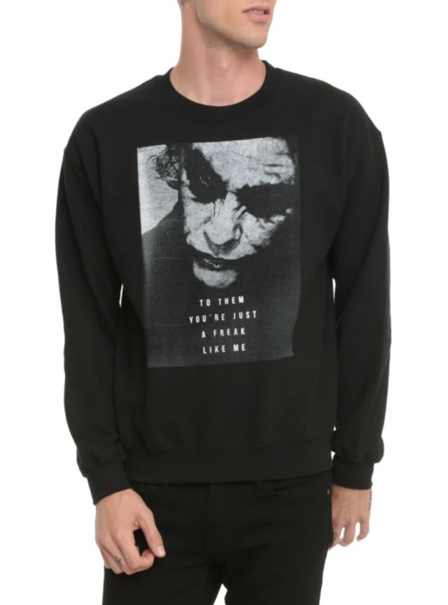 ad098d29bd6f The Joker design crewneck sweatshirt that reads