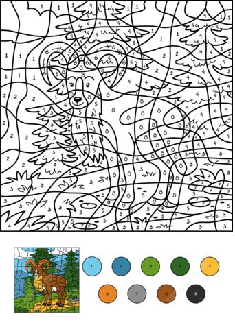farbe nach anzahl arbeitsblätter | kinder für malvorlagen in 2020 | malen nach zahlen kinder