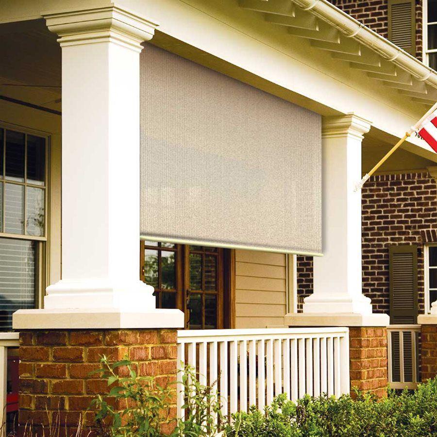 Coolaroo 462161 Corded Exterior Roller Shade Exterior Roller Shade Outdoor Blinds Outdoor Curtains