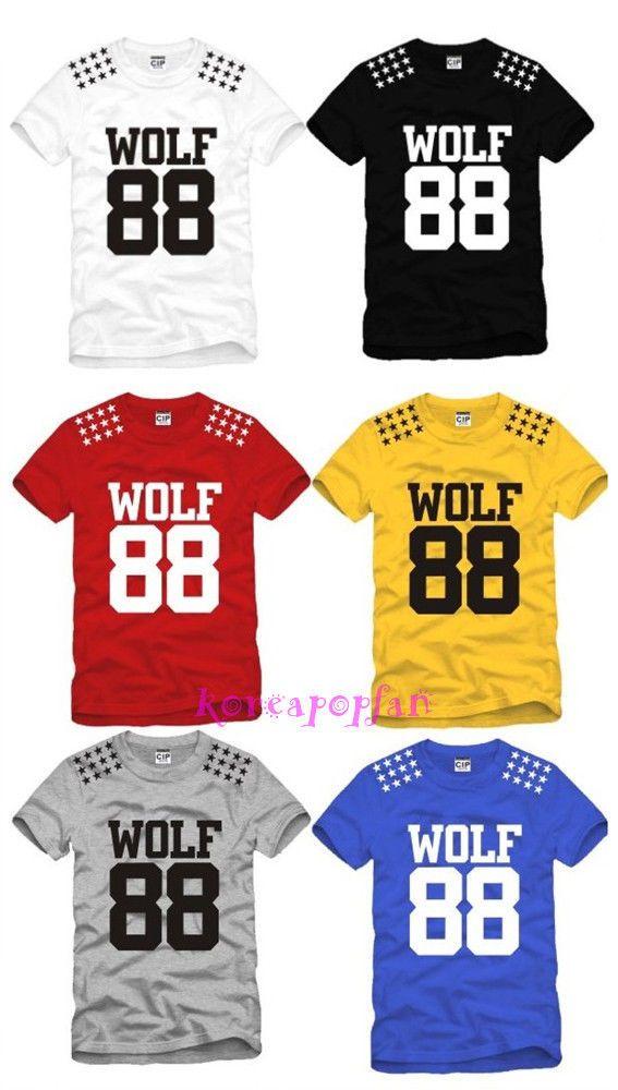 t shirt exo wolf
