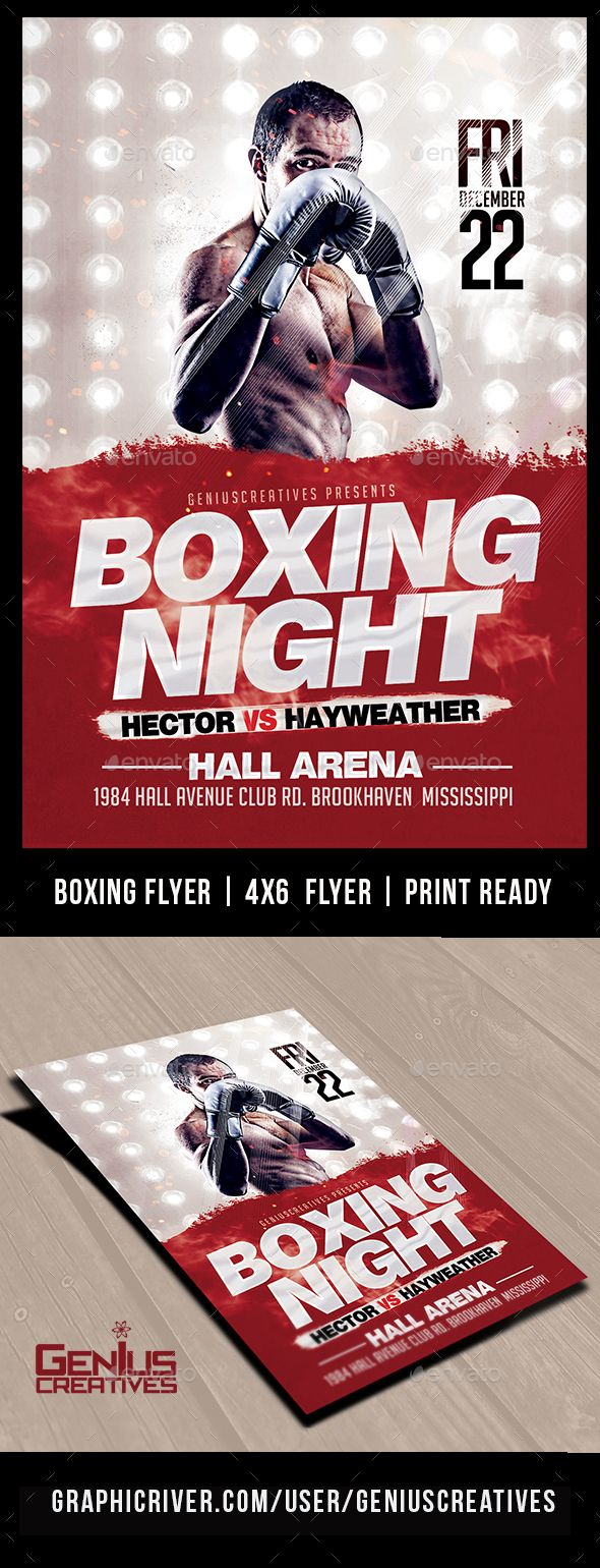 Boxing Poster Template Free Under Bergdorfbib Co