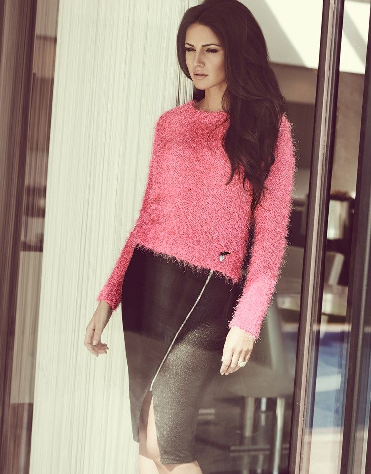 Michelle Keegan Eyelash Knit Crop Jumper #lipsy #sweater #jumper ...