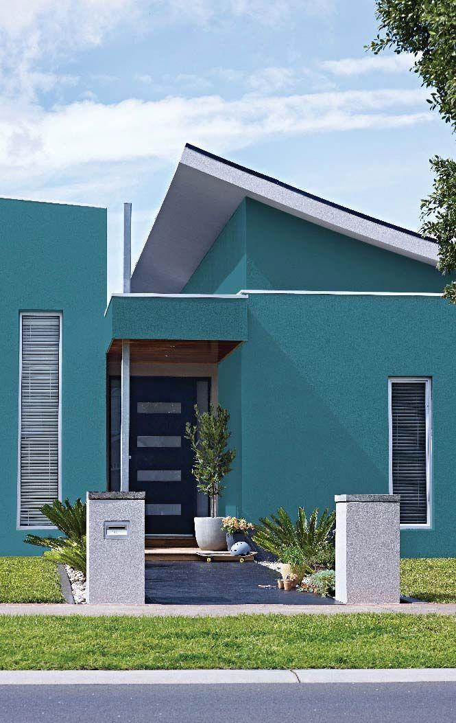 Resultado de imagem para fachada de casas azul turquesa for Cores modernas para fachadas de casas 2013