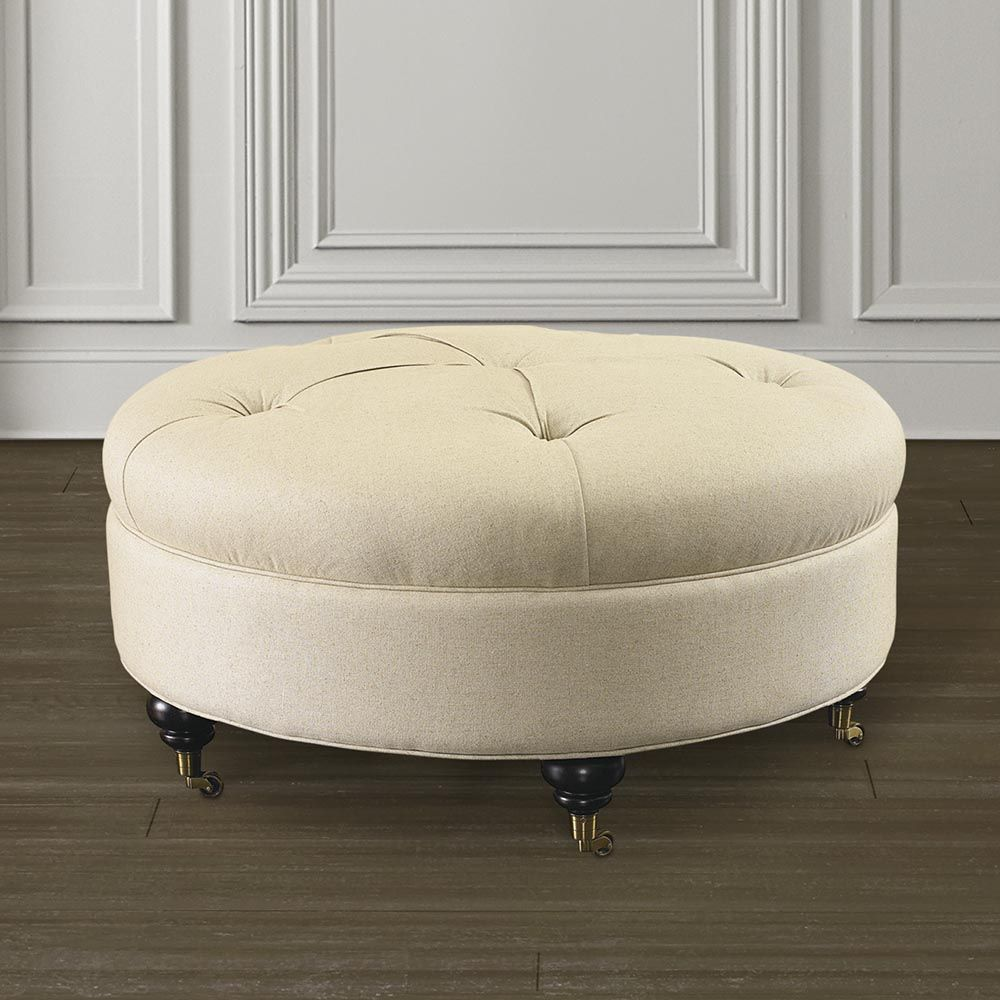 Buy Custom Round Ottoman And Design Custom Round Ottomans For Home Or  Office At Bassett Furniture