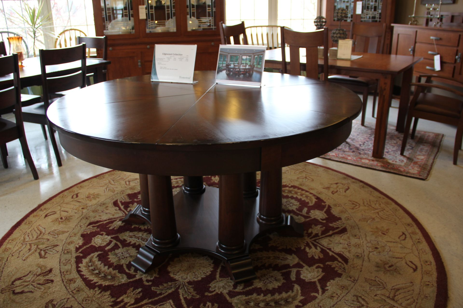 A Gorgeous And Refined Dark Solid Wood Round Dining Table! #shopGF | Houston  TX