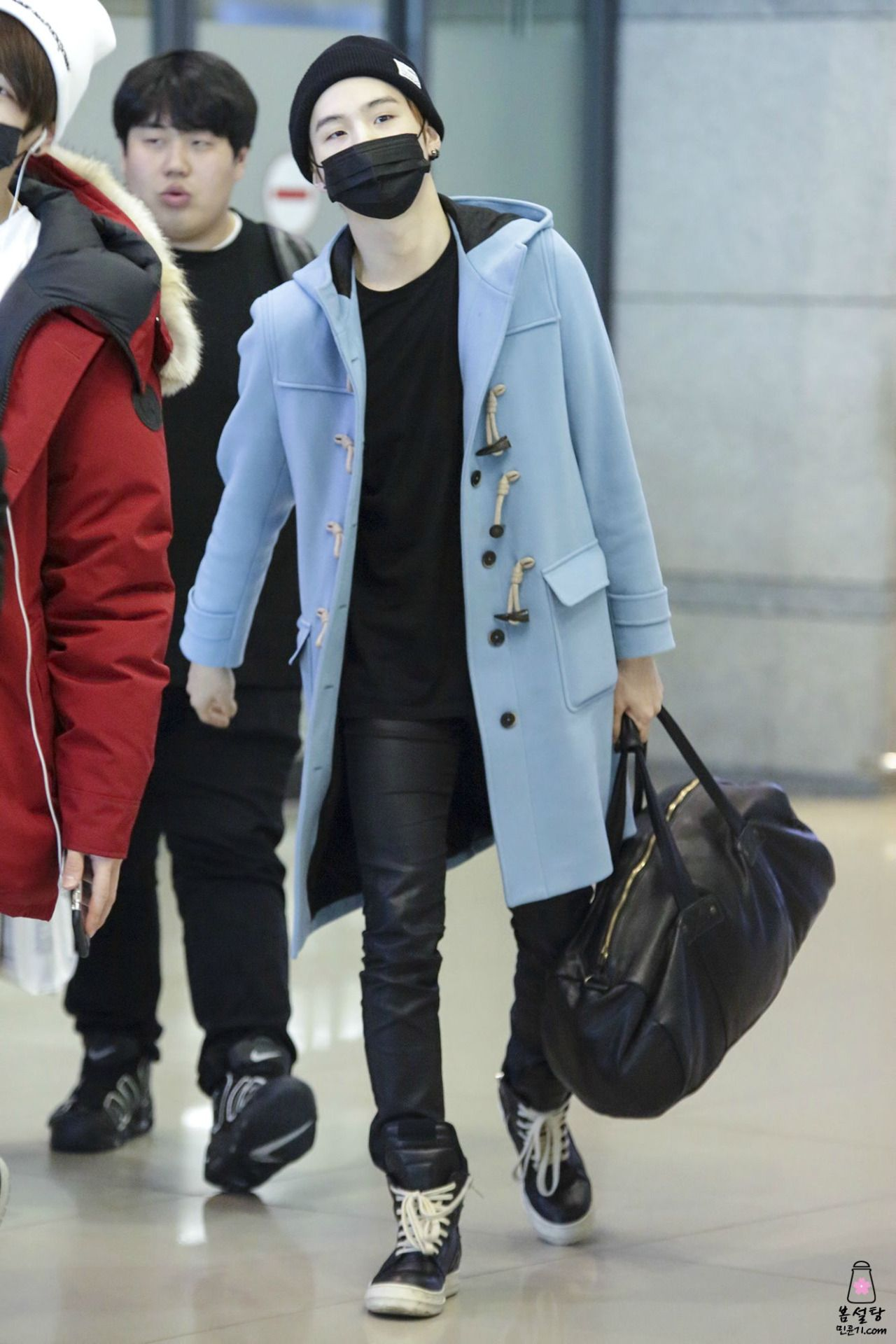 150220- BTS Suga (Min Yoongi) @ Incheon Airport #bts #bangtan #bangtanboys #fashion #style #korean