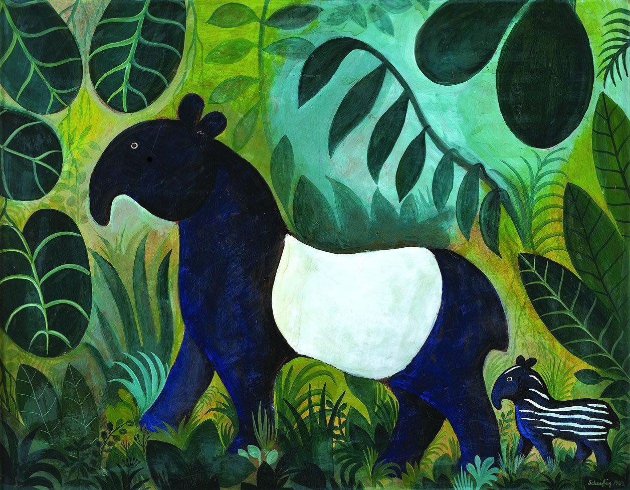 Carnet Imaginaire Glaspopsuper Hans Scherfig Jungle Animal Art Animal Illustration Painting Illustration