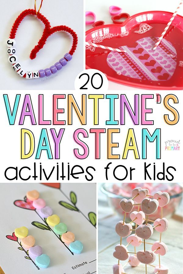 20 Valentine's Day Activities for Kids  Make it a STEAM holiday! is part of Kids Crafts Activities Hands - 20 Valentine's Day STEAM activities for kids, including valentine arts & crafts, sight word and candy heart activities, handson math and science experiments, and learning ideas for February