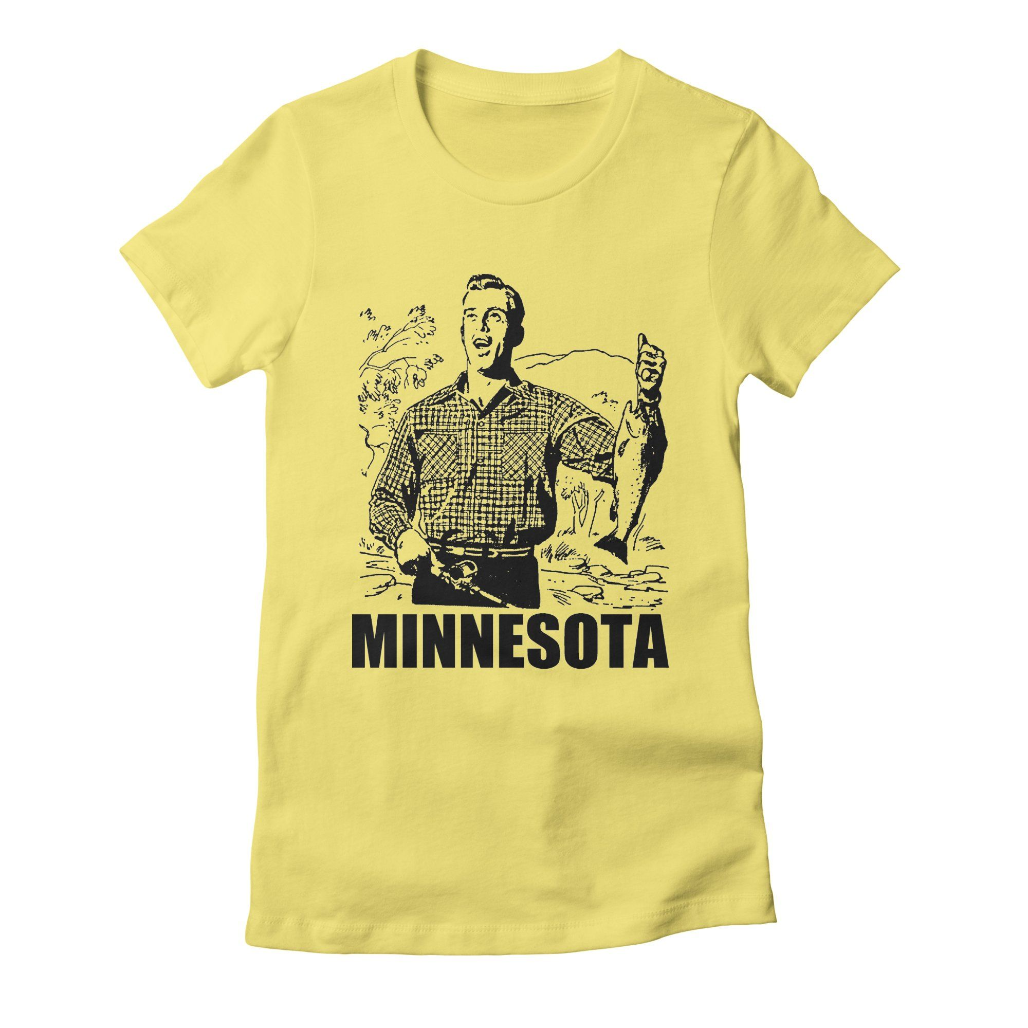 minnesota womens t-shirt in light_yellow